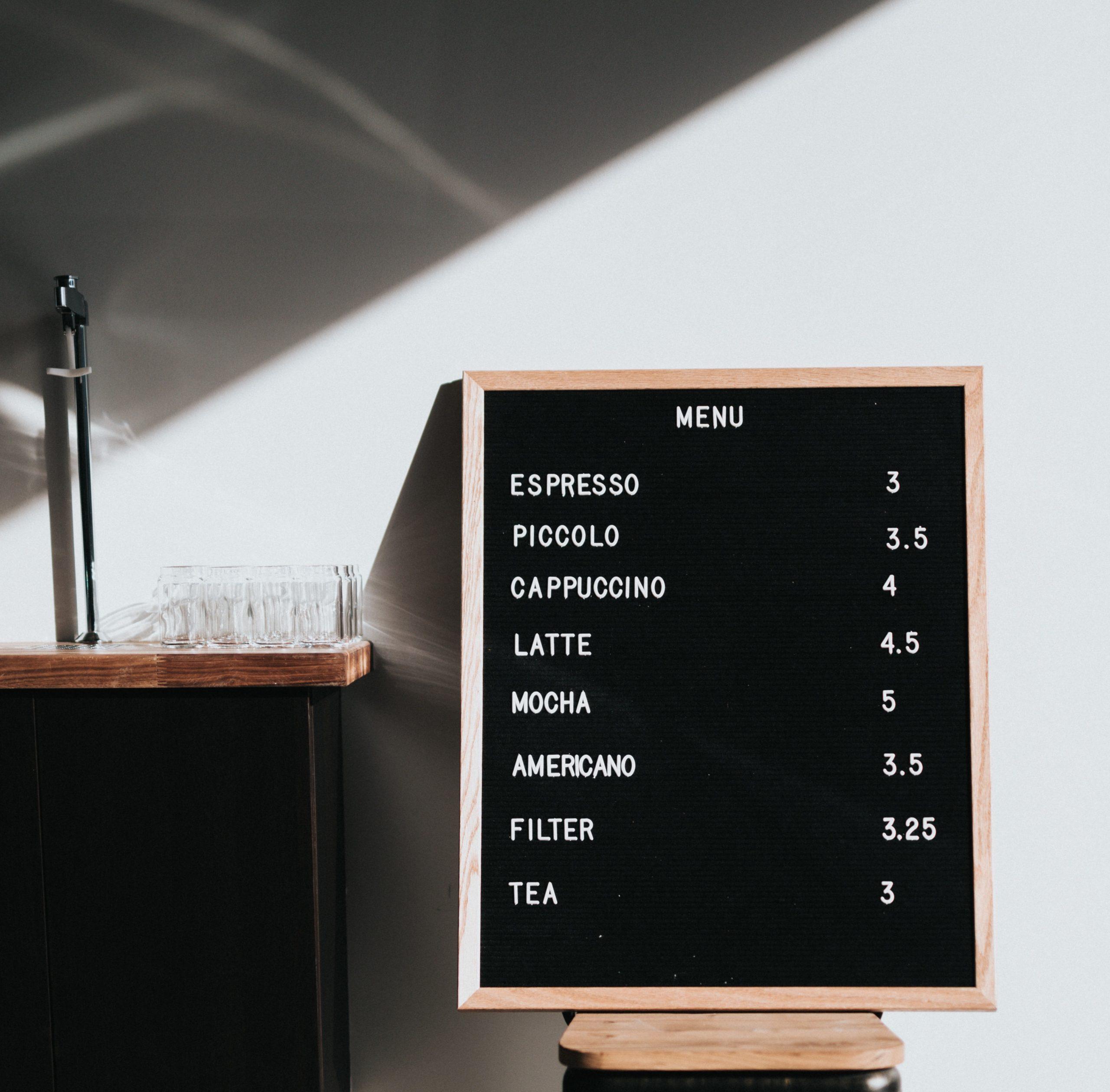comment créer menu restaurant