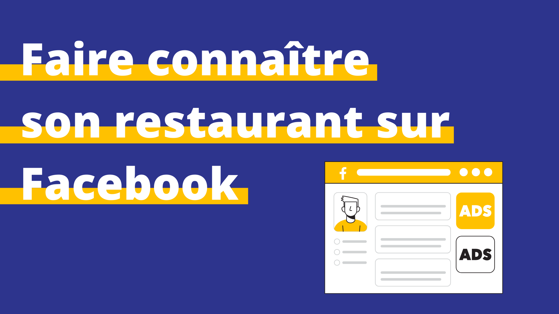 faire connaître restaurant Facebook